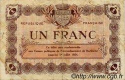 1 Franc FRANCE régionalisme et divers NARBONNE 1921 JP.089.28 TB