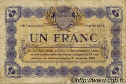 1 Franc FRANCE régionalisme et divers NARBONNE 1922 JP.089.32 TB
