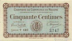 50 Centimes FRANCE régionalisme et divers NEVERS 1915 JP.090.01 SPL à NEUF