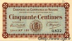 50 Centimes FRANCE régionalisme et divers NEVERS 1915 JP.090.05 SPL à NEUF