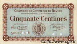 50 Centimes FRANCE régionalisme et divers NEVERS 1915 JP.090.06 TTB à SUP