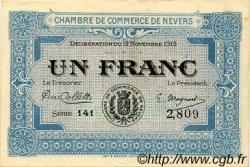 1 Franc FRANCE régionalisme et divers Nevers 1915 JP.090.07 TTB à SUP