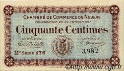 50 Centimes FRANCE régionalisme et divers Nevers 1917 JP.090.12 TTB à SUP