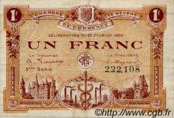 1 Franc FRANCE régionalisme et divers Nevers 1920 JP.090.17 TB