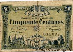 50 Centimes FRANCE régionalisme et divers NEVERS 1920 JP.090.18 TB