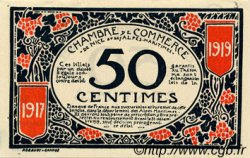 50 Centimes FRANCE régionalisme et divers NICE 1917 JP.091.04 TTB à SUP