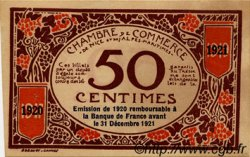 50 Centimes FRANCE régionalisme et divers NICE 1917 JP.091.06 TTB à SUP