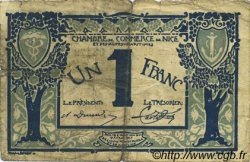 1 Franc FRANCE régionalisme et divers Nice 1917 JP.091.07 TB
