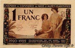 1 Franc FRANCE régionalisme et divers Nice 1920 JP.091.11 TTB à SUP