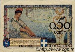 50 Centimes FRANCE régionalisme et divers NICE 1920 JP.091.14 TTB à SUP
