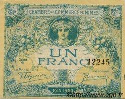 1 Franc FRANCE régionalisme et divers NÎMES 1915 JP.092.06 TTB à SUP