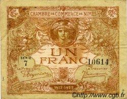 1 Franc FRANCE régionalisme et divers Nîmes 1915 JP.092.14 TB
