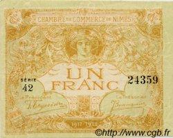 1 Franc FRANCE régionalisme et divers Nîmes 1917 JP.092.18 SPL à NEUF