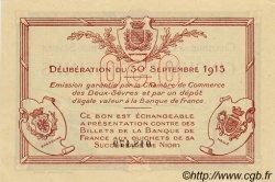 50 Centimes FRANCE régionalisme et divers NIORT 1915 JP.093.01 SPL à NEUF