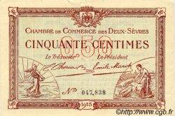 50 Centimes FRANCE régionalisme et divers NIORT 1915 JP.093.01 TTB à SUP
