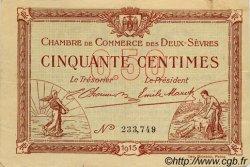 50 Centimes FRANCE régionalisme et divers Niort 1915 JP.093.01 TB