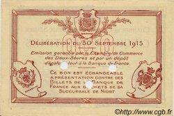 50 Centimes FRANCE régionalisme et divers Niort 1915 JP.093.02 SPL à NEUF