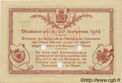 50 Centimes FRANCE régionalisme et divers NIORT 1915 JP.093.02 TTB à SUP