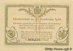 1 Franc FRANCE régionalisme et divers Niort 1915 JP.093.03 SPL à NEUF