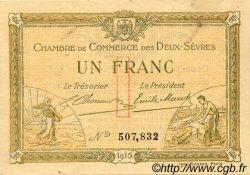 1 Franc FRANCE régionalisme et divers NIORT 1915 JP.093.03 TTB à SUP