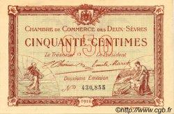 50 Centimes FRANCE régionalisme et divers Niort 1916 JP.093.06 SPL à NEUF