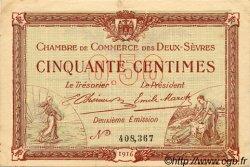 50 Centimes FRANCE régionalisme et divers NIORT 1916 JP.093.06 TTB à SUP