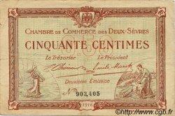 50 Centimes FRANCE régionalisme et divers Niort 1916 JP.093.06 TB