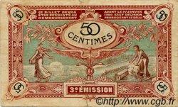 50 Centimes FRANCE régionalisme et divers NIORT 1920 JP.093.10 TB