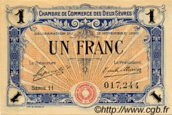 1 Franc FRANCE régionalisme et divers NIORT 1920 JP.093.11 TTB à SUP