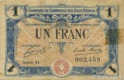 1 Franc FRANCE régionalisme et divers Niort 1920 JP.093.11 TB