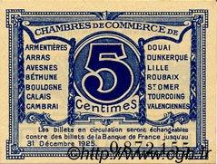 5 Centimes FRANCE régionalisme et divers NORD ET PAS-DE-CALAIS 1918 JP.094.01 TTB à SUP