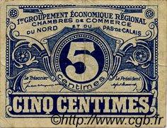 5 Centimes FRANCE régionalisme et divers Nord et Pas-De-Calais 1918 JP.094.01 TB