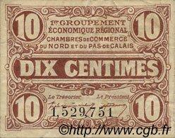 10 Centimes FRANCE régionalisme et divers NORD ET PAS-DE-CALAIS 1918 JP.094.02 TB