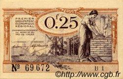 25 Centimes FRANCE régionalisme et divers NORD ET PAS-DE-CALAIS 1918 JP.094.03 SPL à NEUF