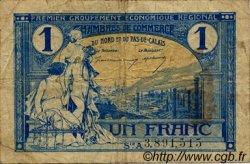 1 Franc FRANCE régionalisme et divers Nord et Pas-De-Calais 1918 JP.094.05 TB