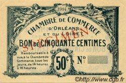 50 Centimes FRANCE régionalisme et divers Orléans 1918 JP.095.01 TTB à SUP