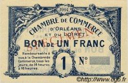 1 Franc FRANCE régionalisme et divers Orléans 1918 JP.095.02 SPL à NEUF