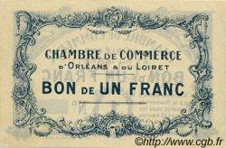 1 Franc FRANCE régionalisme et divers Orléans 1918 JP.095.02 TTB à SUP