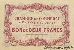 2 Francs FRANCE régionalisme et divers ORLÉANS 1918 JP.095.03 TTB à SUP
