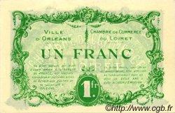 1 Franc FRANCE régionalisme et divers ORLÉANS 1915 JP.095.06 TTB à SUP