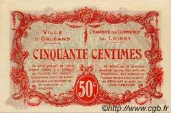 50 Centimes FRANCE régionalisme et divers ORLÉANS 1916 JP.095.08 SPL à NEUF