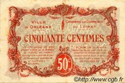 50 Centimes FRANCE régionalisme et divers Orléans 1916 JP.095.08 TTB à SUP