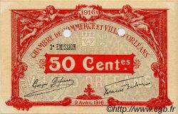 50 Centimes FRANCE régionalisme et divers Orléans 1916 JP.095.10 SPL à NEUF