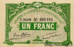 1 Franc FRANCE régionalisme et divers ORLÉANS 1916 JP.095.12 SPL à NEUF