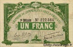 1 Franc FRANCE régionalisme et divers ORLÉANS 1916 JP.095.12 TTB à SUP