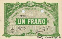1 Franc FRANCE régionalisme et divers Orléans 1916 JP.095.14 SPL à NEUF