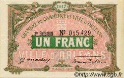 1 Franc FRANCE régionalisme et divers ORLÉANS 1917 JP.095.17 SPL à NEUF