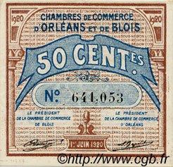 50 Centimes FRANCE régionalisme et divers ORLÉANS ET BLOIS 1920 JP.096.01 SPL à NEUF