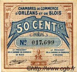 50 Centimes FRANCE régionalisme et divers ORLÉANS ET BLOIS 1920 JP.096.01 TTB à SUP