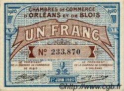 1 Franc FRANCE régionalisme et divers ORLÉANS ET BLOIS 1920 JP.096.03 SPL à NEUF